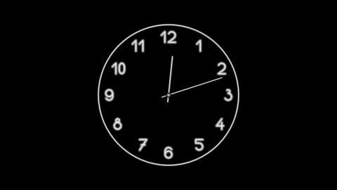 Clock-19C Stock Video Footage