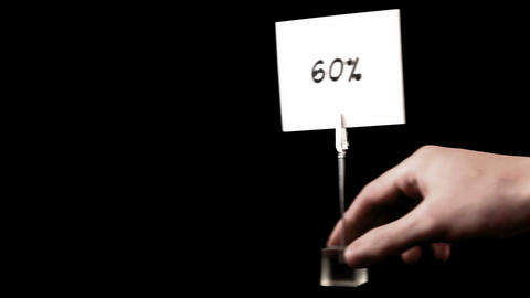percentage. written on white Stock Video Footage