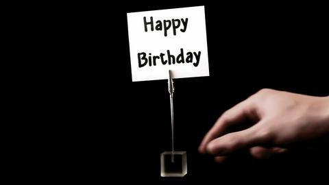 happy birthday. written on white Stock Video Footage