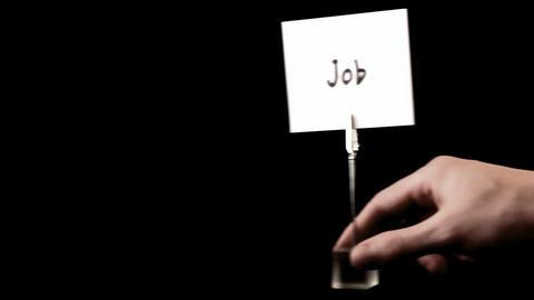 job. written on white Stock Video Footage
