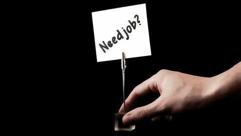 Need job. written on white Footage
