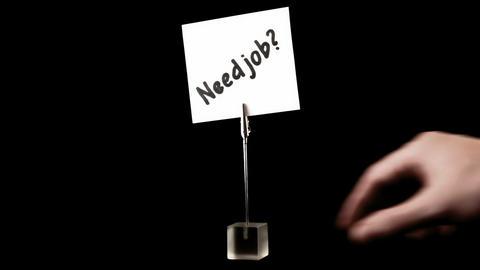 Need job. written on white Stock Video Footage
