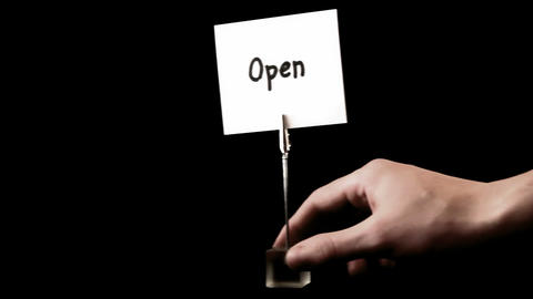 open. written on white Stock Video Footage