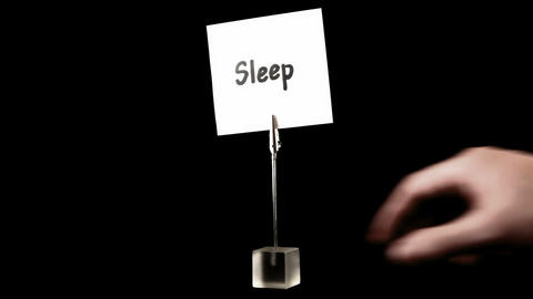sleep. written on white Stock Video Footage