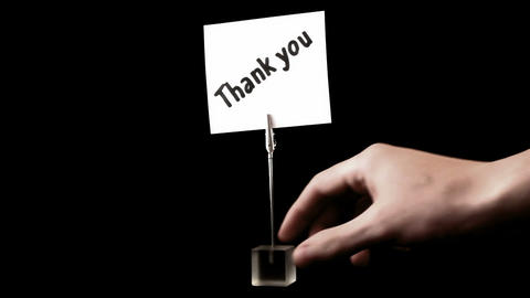 thank you. written on white Stock Video Footage