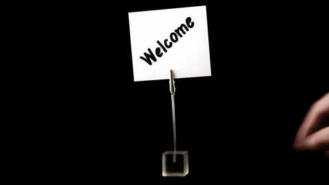 welcome. written on white Stock Video Footage