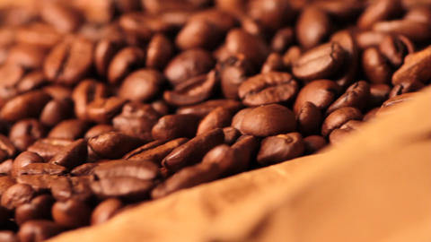 beautiful coffee beans close-up Footage