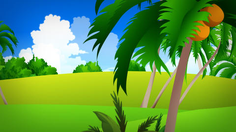 Animated background for television presentations Animation
