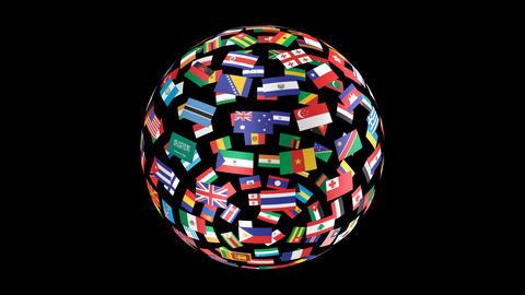 World Flags B Tbm Stock Video Footage