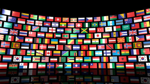 World Flags R Mbm Stock Video Footage