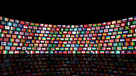 World Flags R Sbm Stock Video Footage