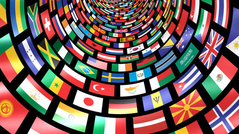 World Flags T Mfbm Stock Video Footage