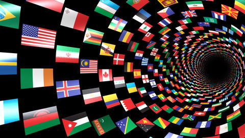 World Flags T Yrbm Stock Video Footage