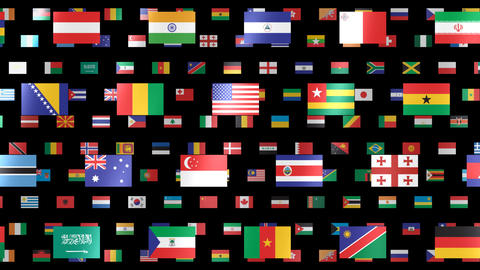 World Flags W Fbm Animation