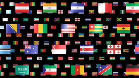 World Flags W Fbm Animation