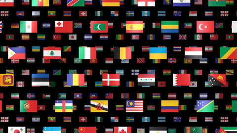 World Flags W Fbm Stock Video Footage