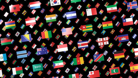 World Flags W Rbm CG動画