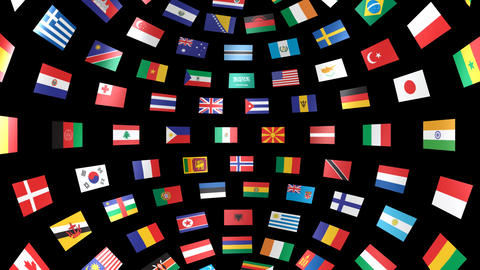 World Flags B Ibm CG動画