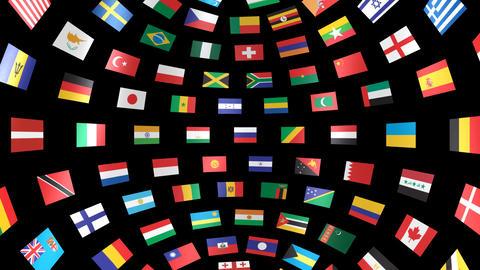World Flags B Ibm Stock Video Footage