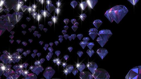 Artificial diamonds running Stock Video Footage