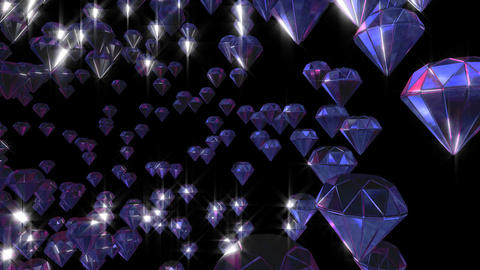 Artificial diamonds running Animation