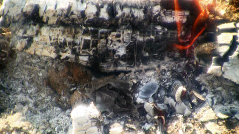 Coal and fire. Loopable Time lapse Stock Video Footage