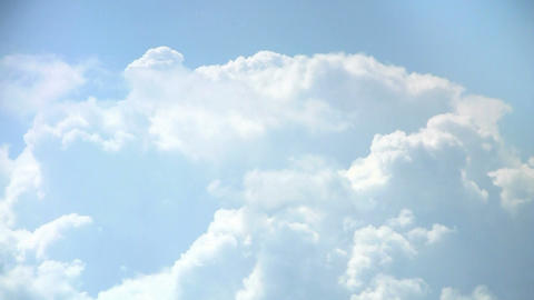 Loopable Clouds and blue sky. Time lapse Footage