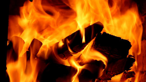 beautiful flame in the furnace Stock Video Footage