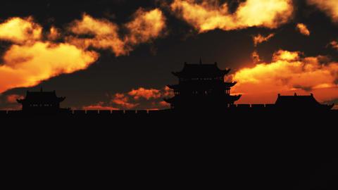 Great Wall castle 2 Footage