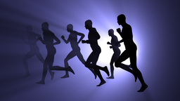 Group Of People Running stock footage