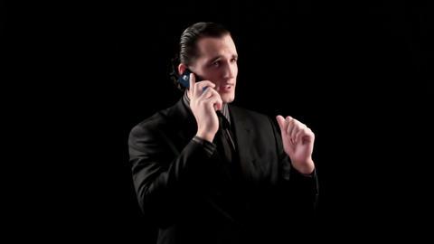 businessman speaking by phone Stock Video Footage