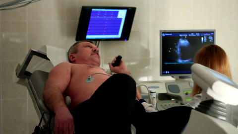 Ultrasound inspection in a clinic Footage