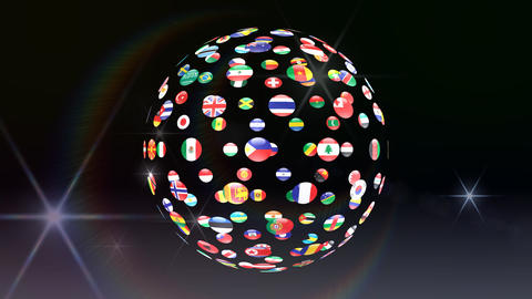 World Flags B Fcb Stock Video Footage