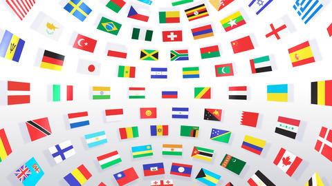World Flags B Ibw Stock Video Footage