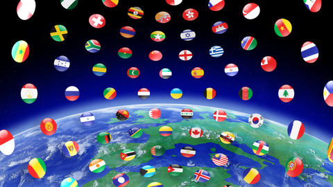 World Flags B Ice CG動画