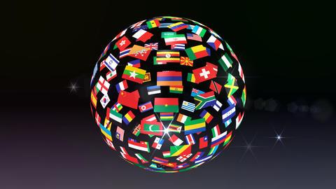 World Flags B Tbb Stock Video Footage