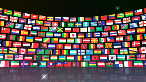 World Flags R Mbb Stock Video Footage