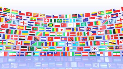 World Flags R Mbw Stock Video Footage