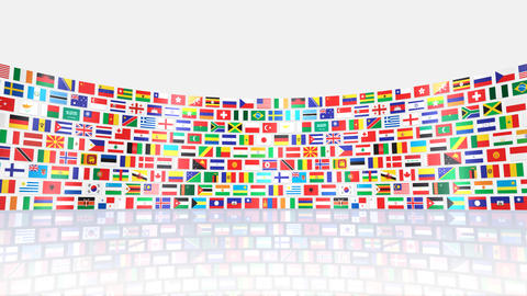 World Flags R Sbw Stock Video Footage