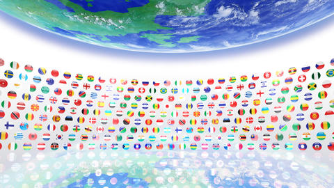 World Flags R Sce Stock Video Footage