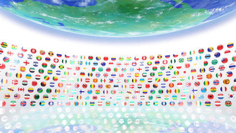 World Flags R Sce Animation