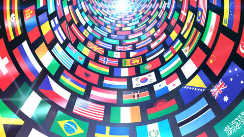 World Flags T Mfbb Stock Video Footage