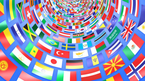 World Flags T Mfbw Stock Video Footage