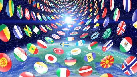 World Flags T Mfce Stock Video Footage