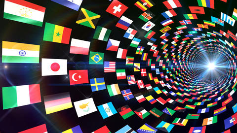 World Flags T Yrbb Stock Video Footage