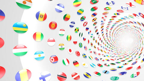 World Flags T Yrcw Stock Video Footage