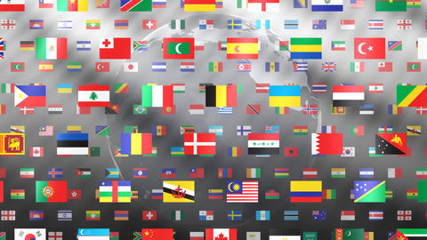 World Flags W Fbe Stock Video Footage