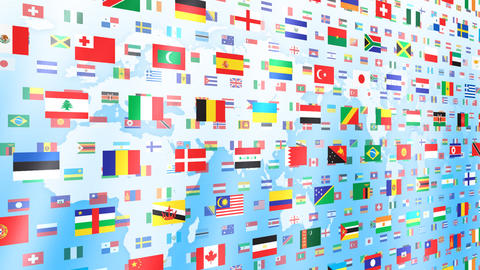 World Flags W Nbe Stock Video Footage