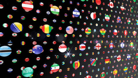 World Flags W Ncb Stock Video Footage