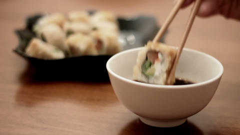 delicious sushi Stock Video Footage